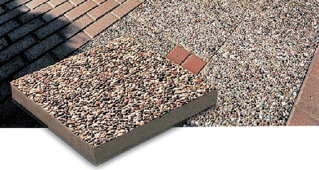 Patio stone exposed aggregate